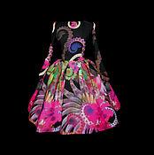 """Одежда ручной работы. Ярмарка Мастеров - ручная работа Платье """"Ночное сияние"""" фуксия. Handmade."""