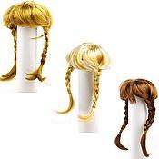 Материалы для творчества ручной работы. Ярмарка Мастеров - ручная работа парик косички русый, блонд, каштан D8, длина 24см. Handmade.