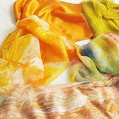Материалы для творчества ручной работы. Ярмарка Мастеров - ручная работа Набор шелка №5 Гербера  плюс батт вискозы в  подарок. Handmade.