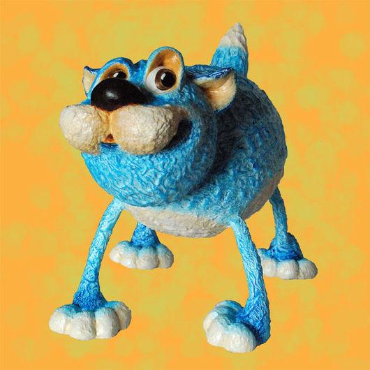 Игрушки животные, ручной работы. Ярмарка Мастеров - ручная работа. Купить Голубой кот. Handmade. Папье-маше, интерьерная игрушка