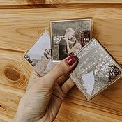 Фото ручной работы. Ярмарка Мастеров - ручная работа Акриловые магниты с вашим фото, приглашение на свадьбу магнит. Handmade.