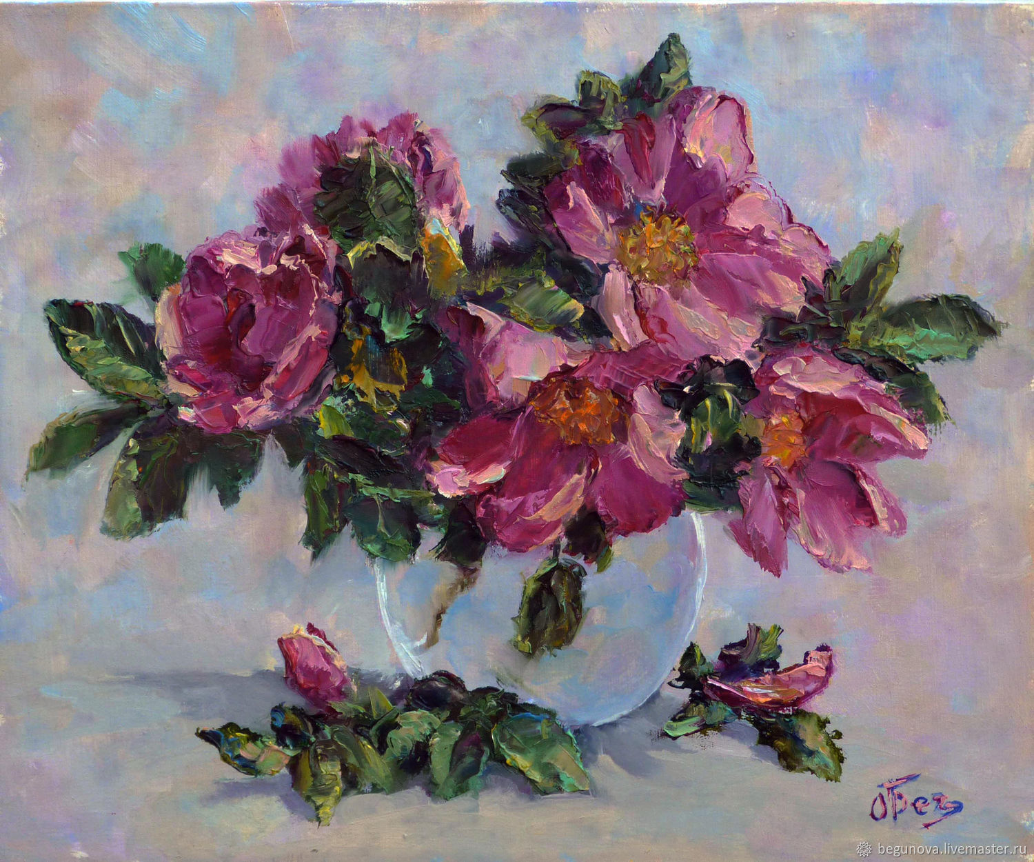 Oil painting flowers rose, order a painting with the colors of cheap, Pictures, Krasnodar,  Фото №1