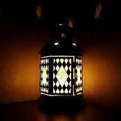 Субкультуры handmade. Livemaster - original item Stained glass lantern (candle holder) Diamonds. Handmade.