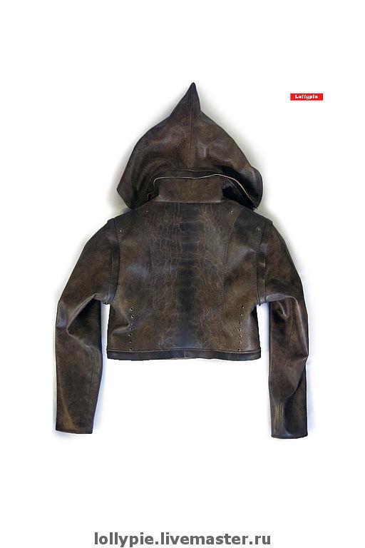Верхняя одежда ручной работы. Ярмарка Мастеров - ручная работа. Купить Куртка Shortplay-3. Handmade. Кожа, коричневый, наппа