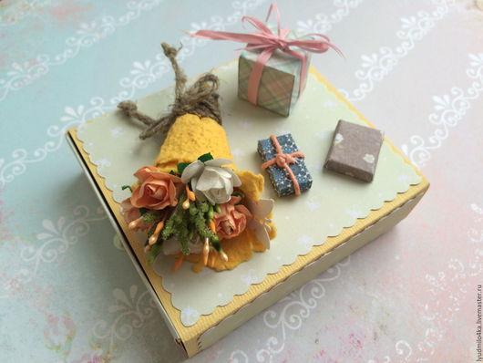Конверты для денег ручной работы. Ярмарка Мастеров - ручная работа. Купить Открытка с цветами в виде мини-коробочки для подарка или денег. Handmade.