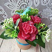 """Мыло ручной работы. Ярмарка Мастеров - ручная работа Мыло ручной работы """"Букет роз"""". Handmade."""