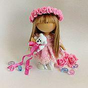 Куклы и игрушки ручной работы. Ярмарка Мастеров - ручная работа Текстильная кукла -малышка. Диана. Handmade.