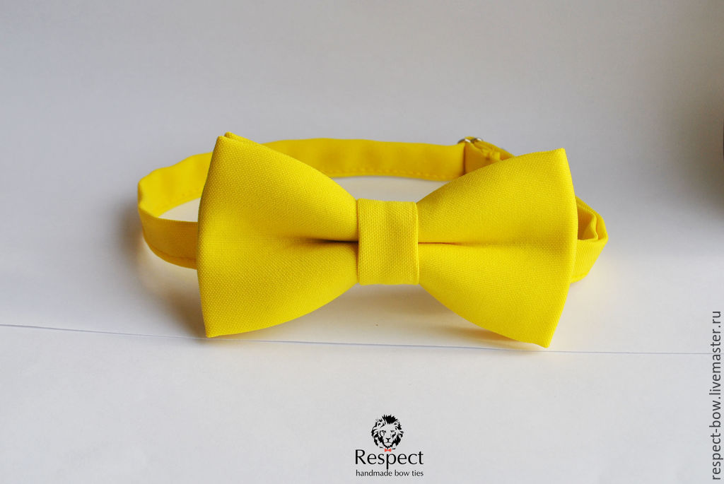 Yellow butterfly tie, Sunny, yellow wedding, bow tie groomsmen, Ties, Moscow,  Фото №1