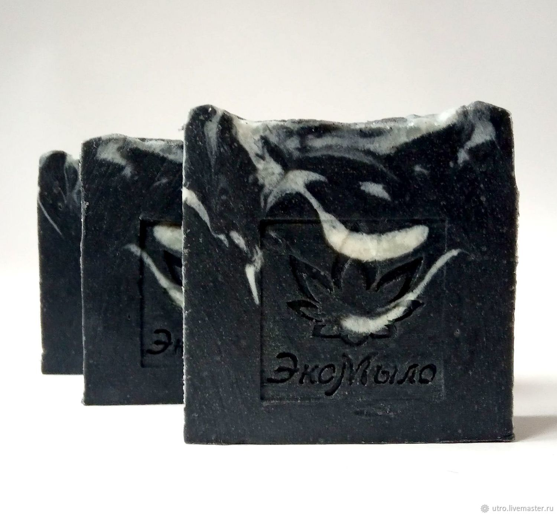 - 10% Natural Charcoal soap black white, Soap, Samara,  Фото №1