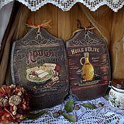 """Для дома и интерьера ручной работы. Ярмарка Мастеров - ручная работа """"Винтаж"""" доски- панно. Handmade."""