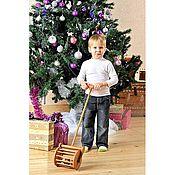 Куклы и игрушки ручной работы. Ярмарка Мастеров - ручная работа Большая деревянная каталка-гремелка. Handmade.