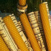 Сувениры и подарки ручной работы. Ярмарка Мастеров - ручная работа Свеча из натуральной вощины 20 см. Handmade.