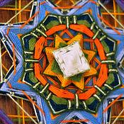 """Картины и панно ручной работы. Ярмарка Мастеров - ручная работа """"Горноцвет"""" - индейская мандала с вышивкой. Handmade."""