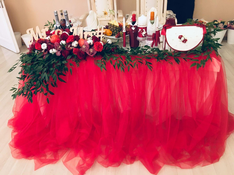 Оформление президиума, Свадебные цветы, Москва, Фото №1