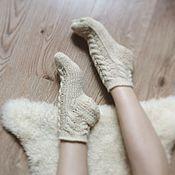 Аксессуары ручной работы. Ярмарка Мастеров - ручная работа Вязаные носки Нежность. Handmade.