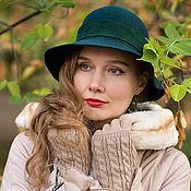 """Аксессуары ручной работы. Ярмарка Мастеров - ручная работа """"Malachite"""" шляпка. Handmade."""