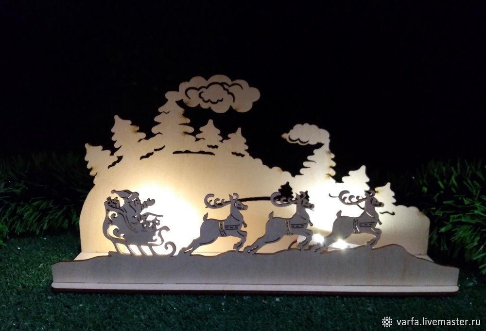 Настольный новогодний ночник, Ночники, Москва,  Фото №1