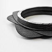 Украшения handmade. Livemaster - original item CULT.  Large bracelet made of wood and washable craft. Handmade.