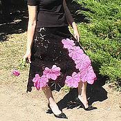 Одежда handmade. Livemaster - original item Skirt knitted FLAMENCO. Handmade.