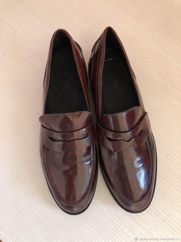 Винтаж: Лоферы SPM shoes&boots Нидерланды 35-35,5 размер, Обувь винтажная, Ефремов,  Фото №1