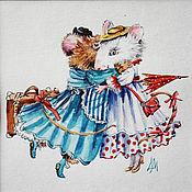 Картины и панно handmade. Livemaster - original item Paintings: watercolour Kryski-girlfriends-a copy of the work of Marjolein Bastin. Handmade.