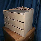 Материалы для творчества handmade. Livemaster - original item Mini chest of drawers for cosmetics and perfumes. 527. Handmade.