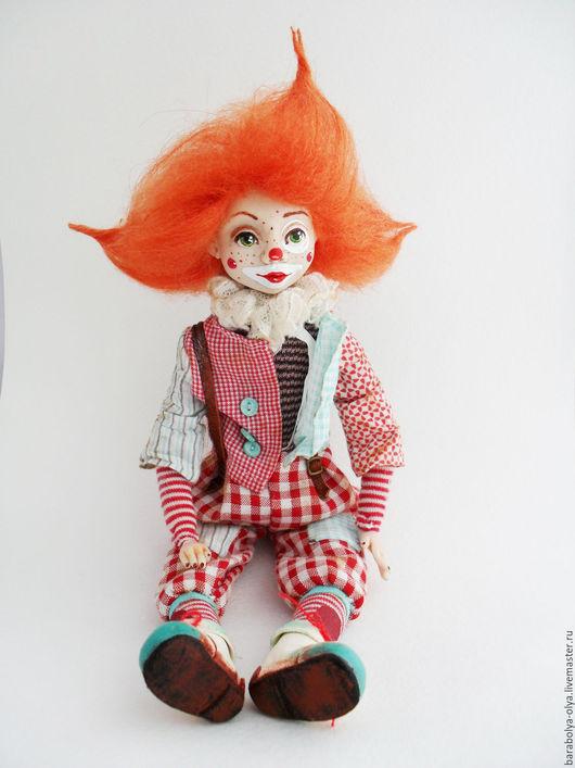 Коллекционные куклы ручной работы. Ярмарка Мастеров - ручная работа. Купить Клоун Ральф. Handmade. Клоун, ручная работа, шерсть
