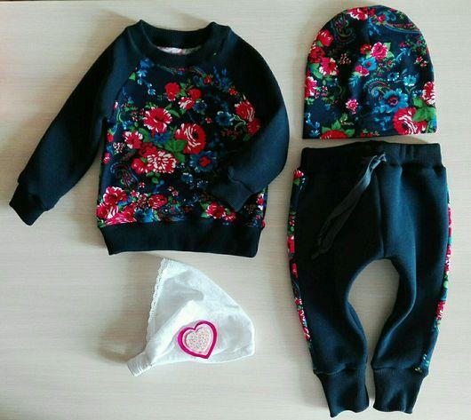 Одежда для девочек, ручной работы. Ярмарка Мастеров - ручная работа. Купить Костюм для девочки. Handmade. Костюм для девочки, свитшот, футер