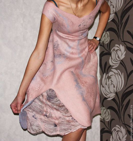 Валяное платье, одежда из войлока