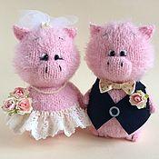 Куклы и игрушки ручной работы. Ярмарка Мастеров - ручная работа Свадебные свинки.. Handmade.