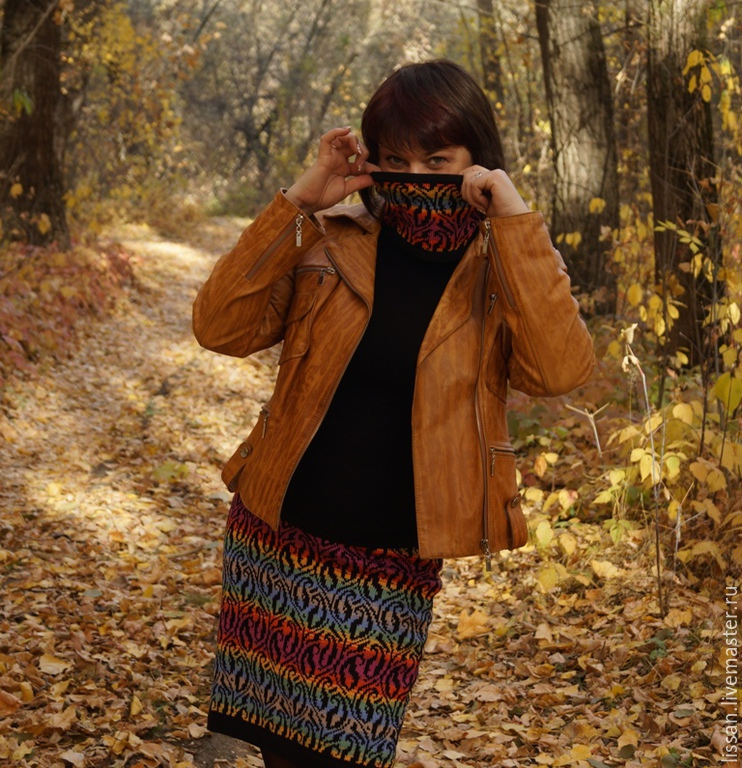 Skirt and mini Snood 'colors of autumn', Skirts, Michurinsk,  Фото №1