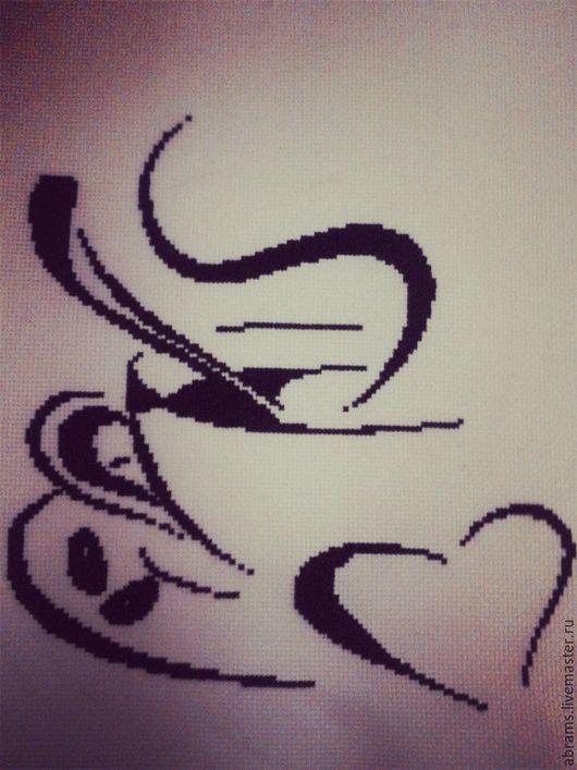 Натюрморт ручной работы. Ярмарка Мастеров - ручная работа. Купить кофейная тема. Handmade. Чёрно-белый, счетный крест, кофейный