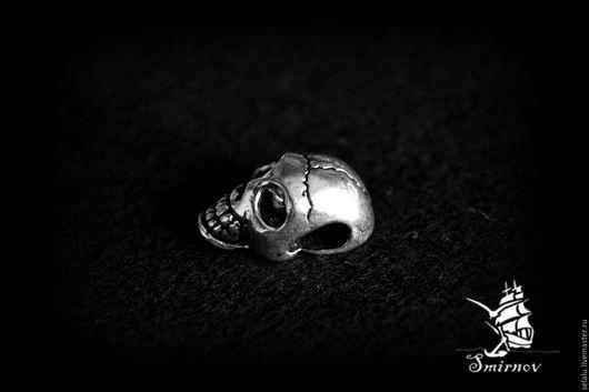"""Для украшений ручной работы. Ярмарка Мастеров - ручная работа. Купить Бусина """"череп"""". Handmade. Серебряный, серебряные бусины"""