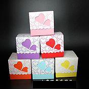 Материалы для творчества ручной работы. Ярмарка Мастеров - ручная работа Коробочка для упаковки подарка. 6 цветов.. Handmade.