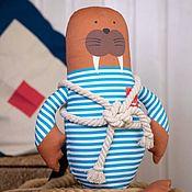 Куклы и игрушки handmade. Livemaster - original item Walrus Boatswain Georges 41cm. Handmade.
