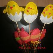 Подарки к праздникам ручной работы. Ярмарка Мастеров - ручная работа Цыплята и пасхальные яйца. Handmade.