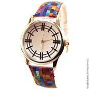 Украшения ручной работы. Ярмарка Мастеров - ручная работа Дизайнерские наручные часы Multicoloured Pixels. Handmade.