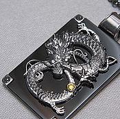 "Украшения handmade. Livemaster - original item White gold pendant ""The Dragon"". Handmade."