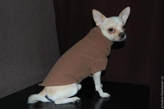 Одежда для собак, ручной работы. Ярмарка Мастеров - ручная работа. Купить Пальто. Handmade. Коричневый, одежда для собак
