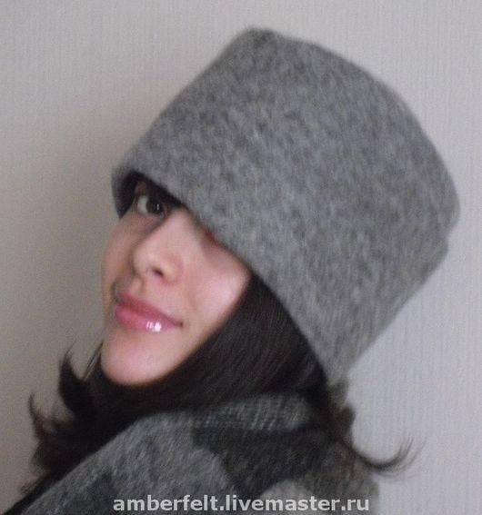 Hats handmade. Livemaster - handmade. Buy Cap 'Anabella' ( grey ).Caps, hats, the author felt