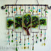 Для дома и интерьера handmade. Livemaster - original item Panel stained glass fusing forging
