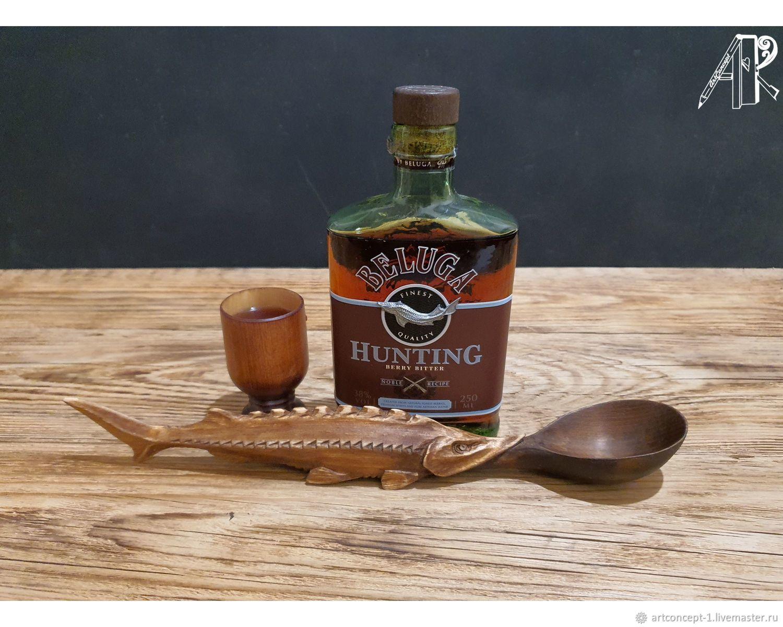 Wooden carved serving spoon 'Sturgeon', Utensils, Ryazan,  Фото №1