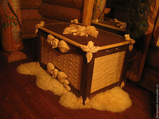 Корзины, коробы ручной работы. Ярмарка Мастеров - ручная работа. Купить Эксклюзивный сундук ручной работы из мербау. Handmade.
