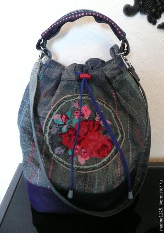 Сумка- торба из джинсы, автор Zhanna Petrakova (Atelier Moscow)