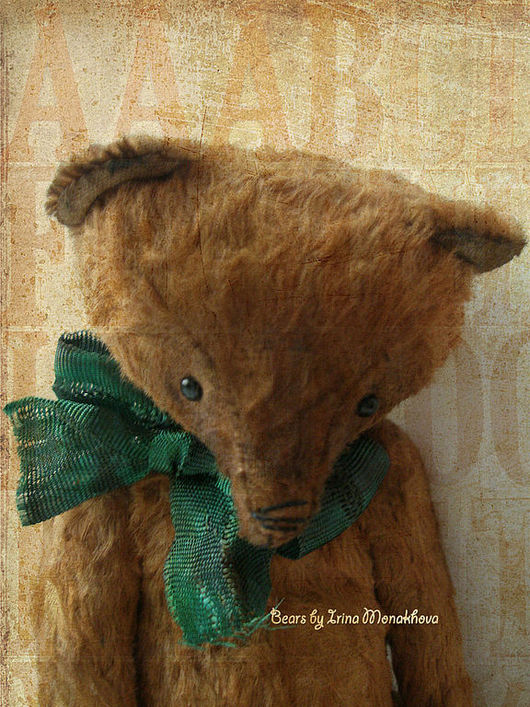 Мишки Тедди ручной работы. Ярмарка Мастеров - ручная работа. Купить Томми. Handmade. Коричневый, мишка в подарок, опилки древесные