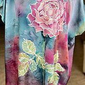 Одежда ручной работы. Ярмарка Мастеров - ручная работа Роза на бирюзовом. Handmade.