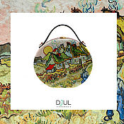 Сумки и аксессуары handmade. Livemaster - original item Women`s bag Thatched roof made of wood with hand painted. Handmade.