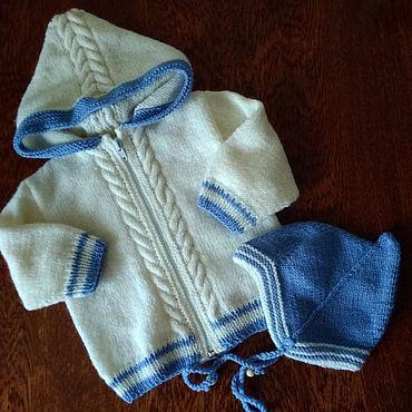 Одежда ручной работы. Ярмарка Мастеров - ручная работа Жакет и шапочка для малыша. Handmade.