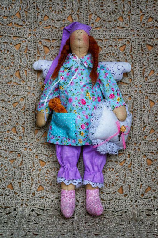 Куклы Тильды ручной работы. Ярмарка Мастеров - ручная работа. Купить Тильда сплюшка. Handmade. Комбинированный, сплюшка, голубой, шерсть