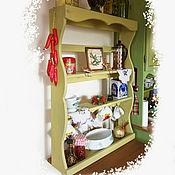 Полки ручной работы. Ярмарка Мастеров - ручная работа Полка большая деревянная оливкового цвета. Handmade.